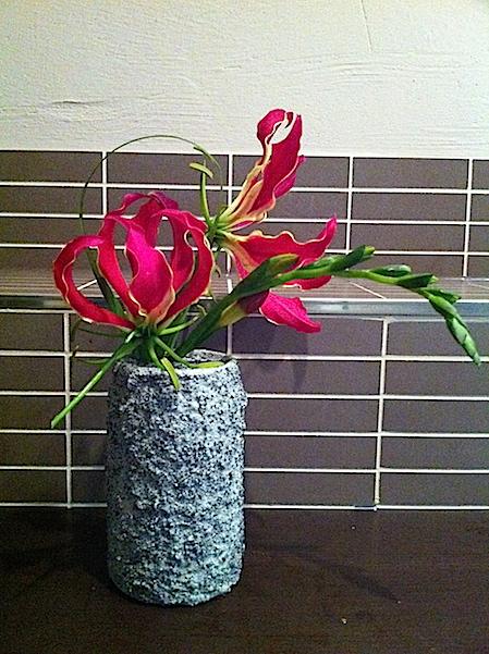 Terracotta Deko Cola Dosen Vase