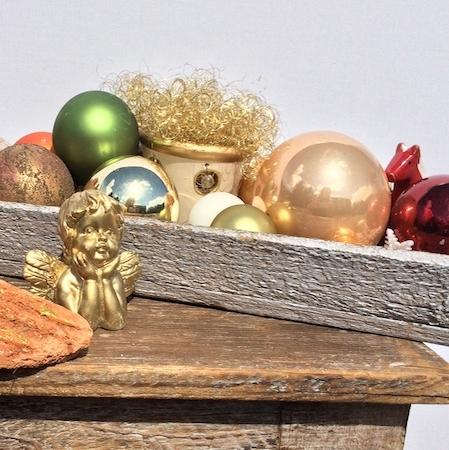 Zapfen terracotta deko - Weihnachtliche schaufenstergestaltung ...